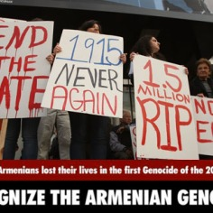 Thousands March On The Anniversary Of The 1915 Armenian Genocide