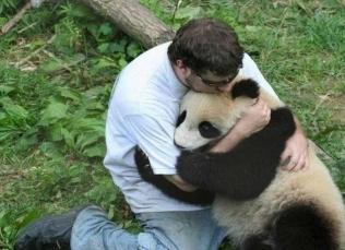 Man and Panda