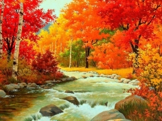 Autumn-Waterfalls-Painting