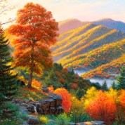 hdwallpapers.cat_bear_coming_river_animal_autumn_mountain_hd-wallpaper