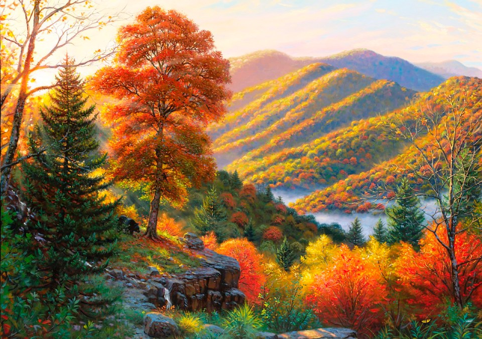 hdwallpapers.cat_bear_coming_river_animal_autumn_mountain_hd-wallpaper