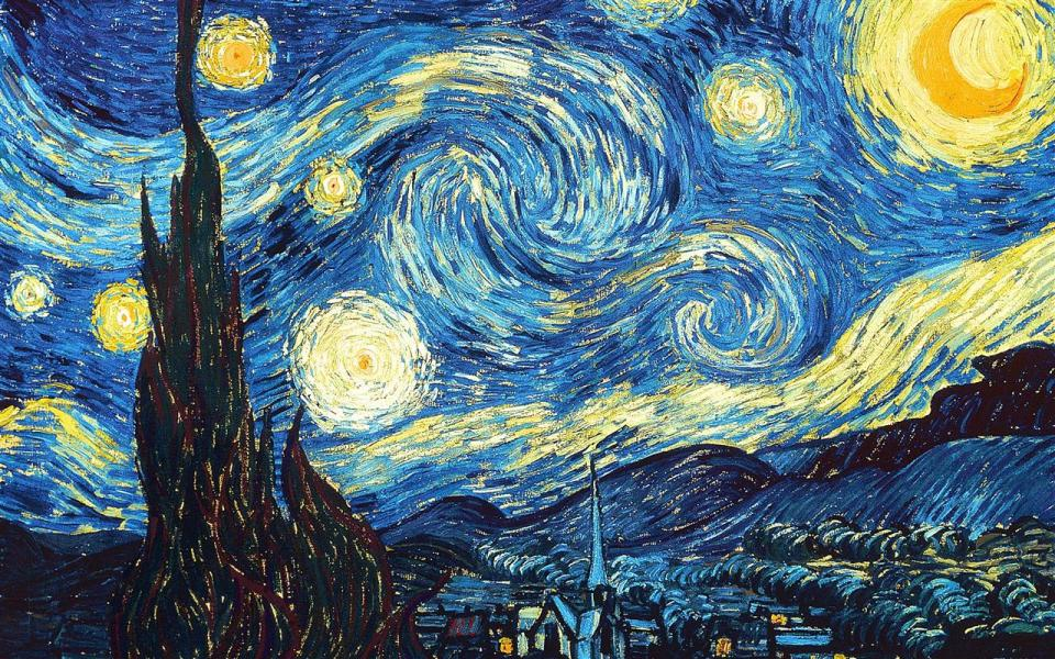 The Starry Night - by Vincent van Gogh